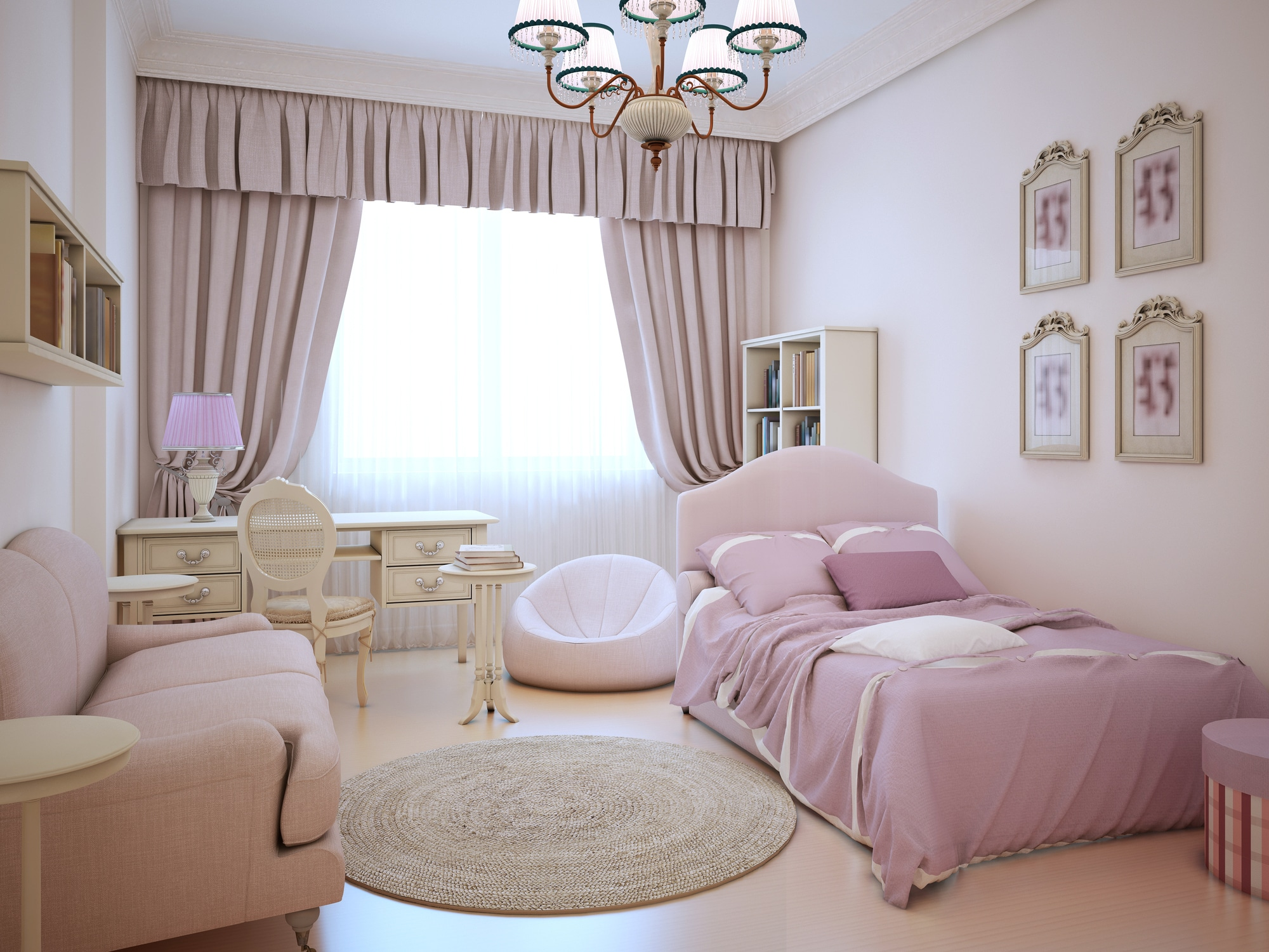 Une chambre trop girly